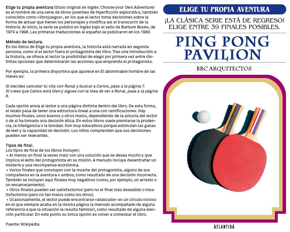 Ping Pong Pavilion.